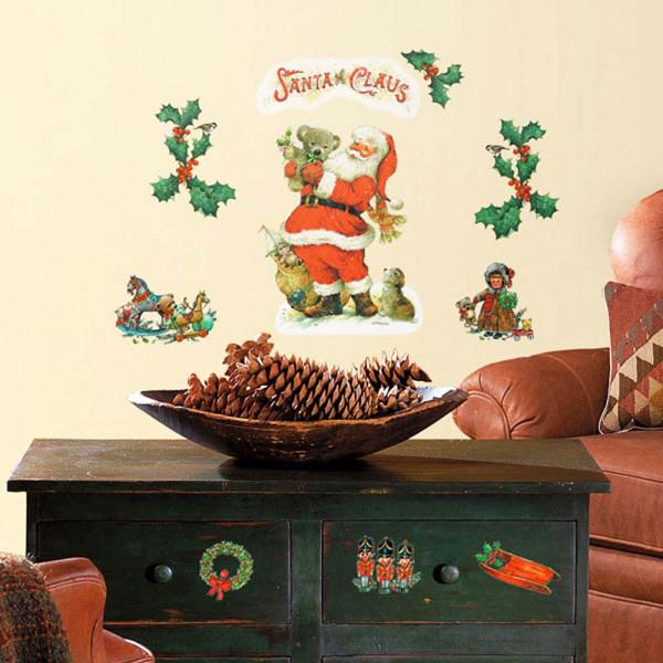 Wandsticker Weihnachtsmann Santa Claus Wohnzimmer