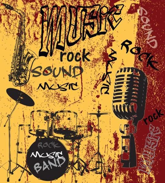 Vliestapete Rock Music Band Orange 225x250