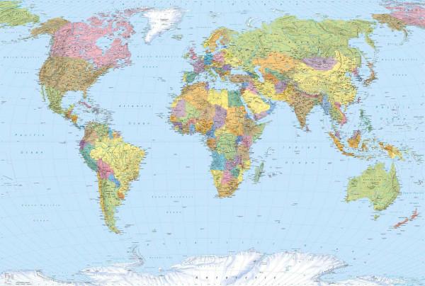 Vliestapete Fototapete Weltkarte