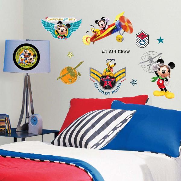 Wandsticker Mickey Mouse Pilot Jungenzimmer
