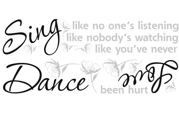 Wandsticker Sing Dance Love
