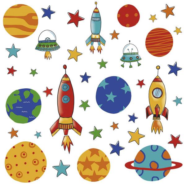 Wandsticker Planeten Raketen