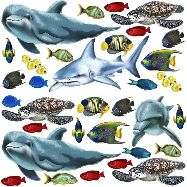 Wandsticker Unterwasserwelt Fische Komplettset