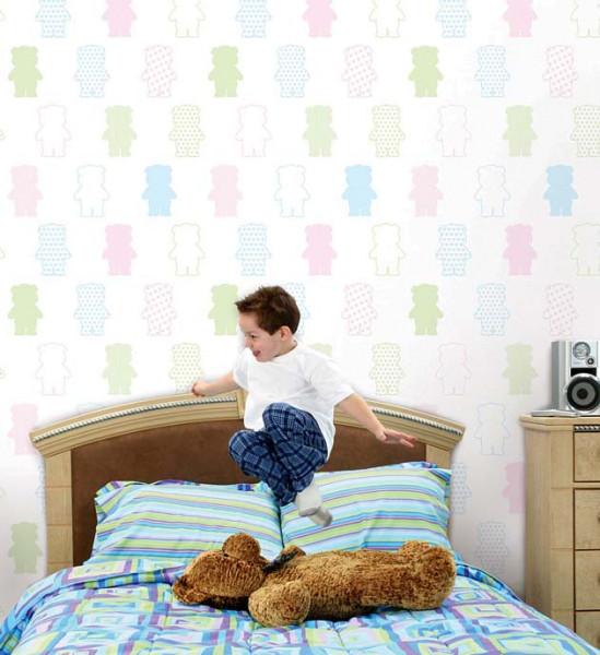 Selbstklebende Tapete Ich liebe Bärchen Kinderzimmer