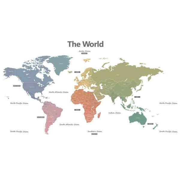 Wandsticker Weltkarte modern XXL