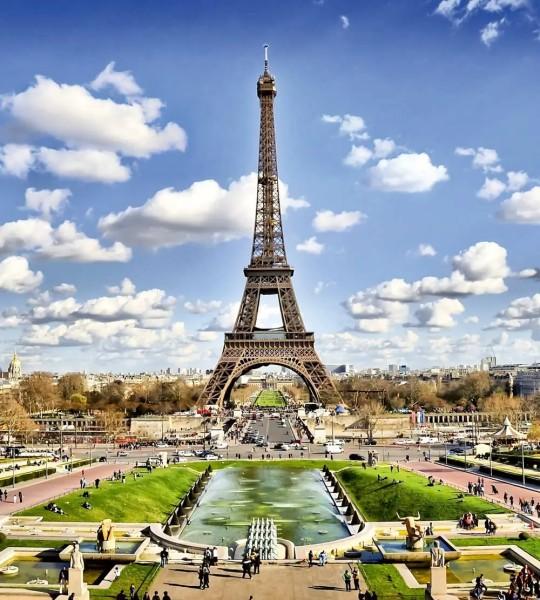 Vliestapete Blick zum Eiffelturm 225x250