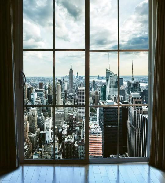 Vliestapete Blick über Manhattan 225x250