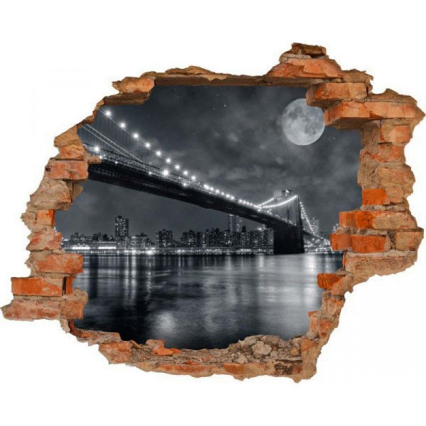 Wandsticker 3D-Optik New York Manhattan Breakthrough