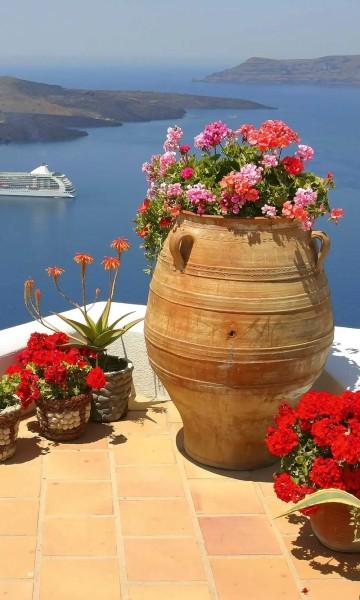 Vlies Fototapete Griechenland 150x250