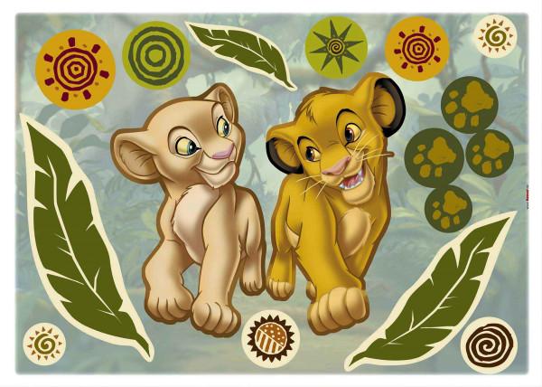 Wandsticker König der Löwen Simba und Nala