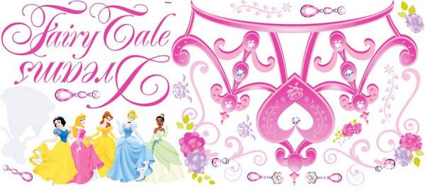 Wandtattoo Disney Princess Krone Fairy Tale Dreams