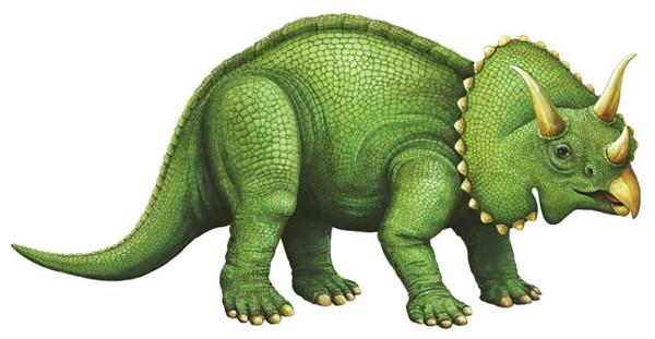 Walls of the Wild Wandsticker Dinosaurier Triceratops Junges klein