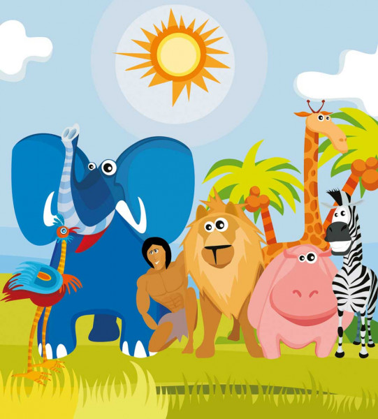 Vliestapete Afrika Tiere 225x250