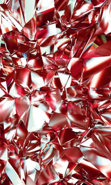 Vlies Fototapete roter Kristall 150x250