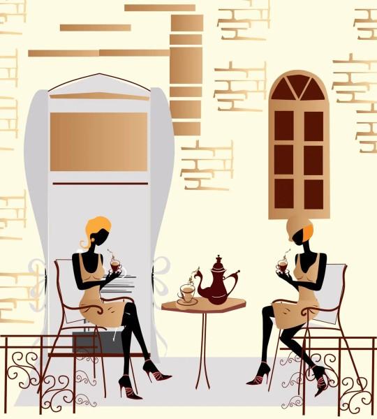 Vliestapete Straßen-Cafe 225x250
