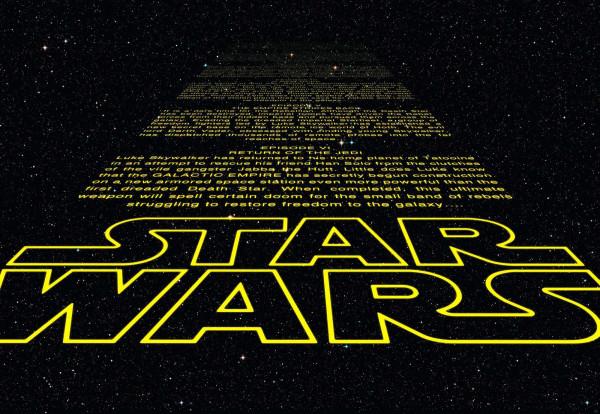 Fototapete Star Wars Schrift Intro
