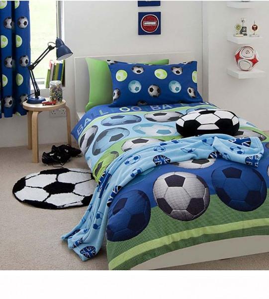 Bettwäsche Fußball Sport blau