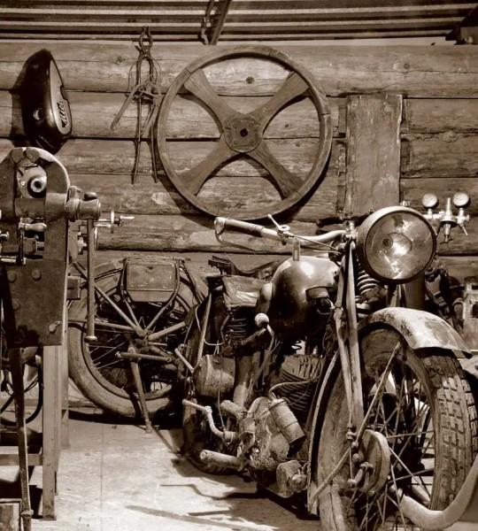 Vliestapete Vintage Garage 225x250
