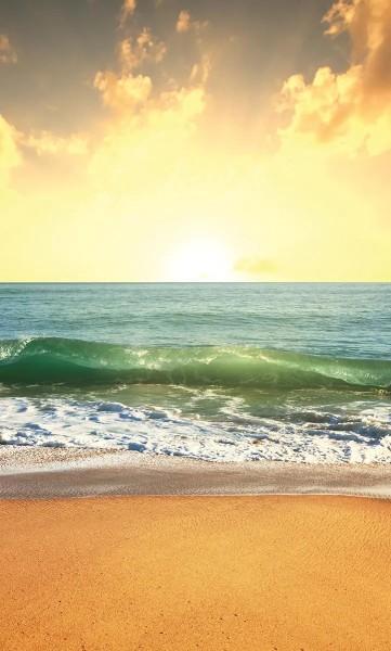 Vlies Fototapete Sonnenuntergang am Meer 150x250