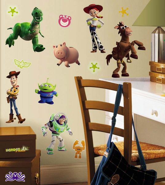 Wandsticker Toy Story leuchten im Dunkeln Kinderzimmer