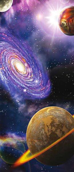 Vlies Türtapete Universum