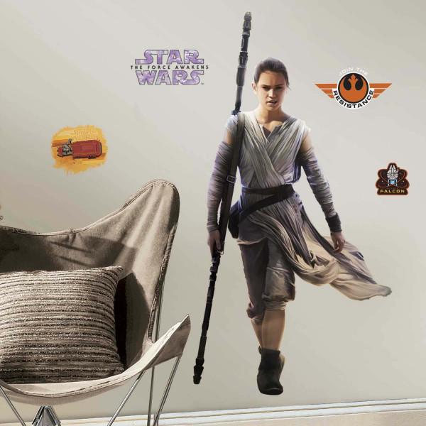 Wandsticker Star Wars Erwachen der Macht Rey Jugendzimmer