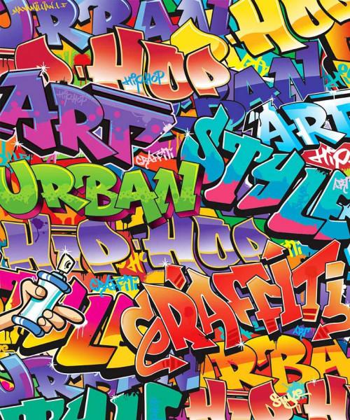 Fototapete Graffiti Sprayer Urban Style