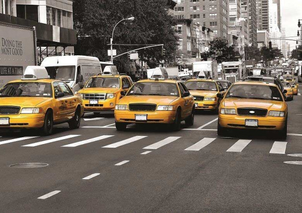 Fototapete yellow Cab New York