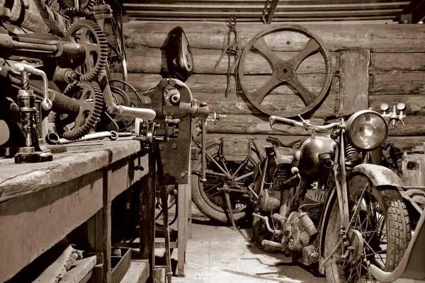 Vliestapete Vintage Garage 375x250
