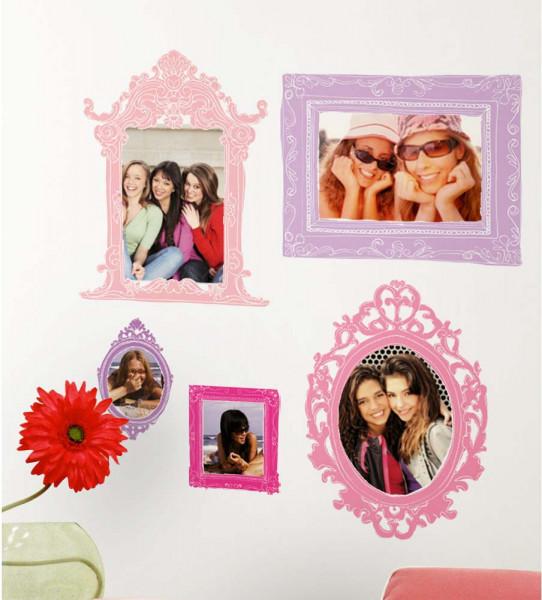 Wandsticker Pink Purple Fotorahmen Jugendzimmer