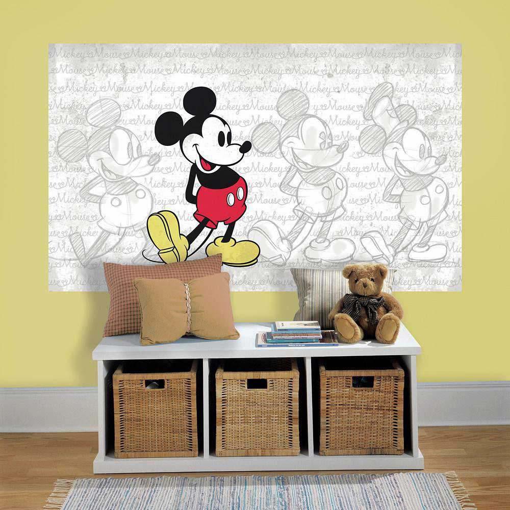 Fototapete Mickey Mouse Skizzen Wandbild