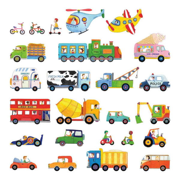 Wandsticker Autos LKW Truck klein