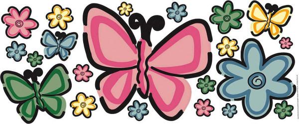 Wandsticker Schmetterlingsbett