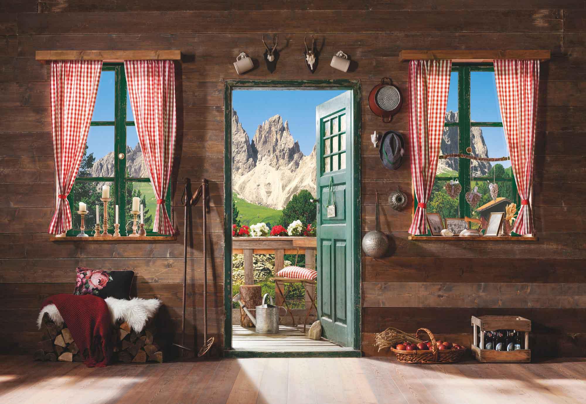 fototapete berghuette KO8955 Beste Badezimmer Fensterfolie Design ideen