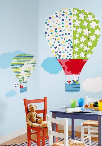 Wandsticker Heißluftballon Kinderzimmer