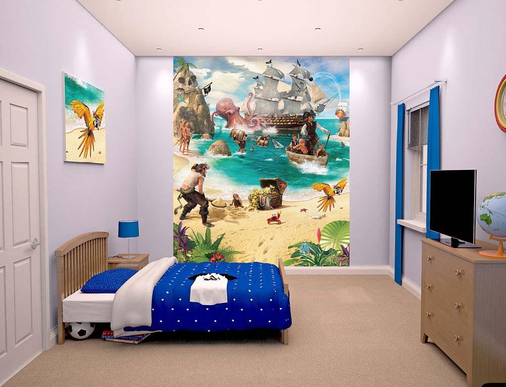 Fototapete Kinderzimmer Piraten Schatzinsel | tapetenwelt