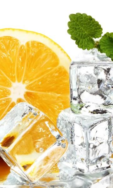 Vlies Fototapete Zitronen Eis 150x250