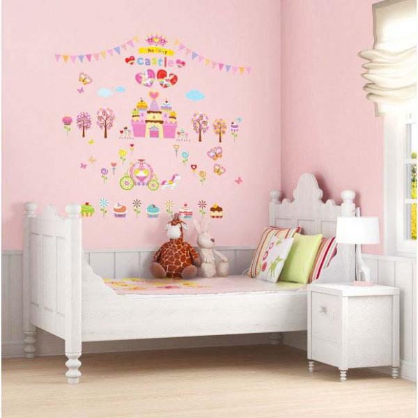 Wandsticker Süßigkeiten Schloss | tapetenwelt