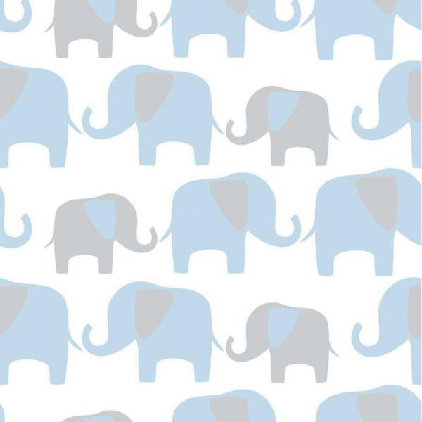 Tapete selbstklebend Elefanten blau