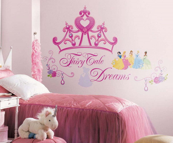 Wandtattoo Disney Princess Krone Fairy Tale Dreams