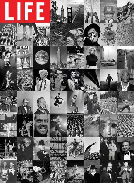 Kreative Collage Life Magazin Designer Tapete
