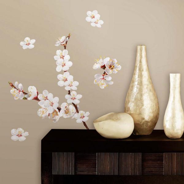 Wandtattoo Hartriegel Strauch Blüten Flur