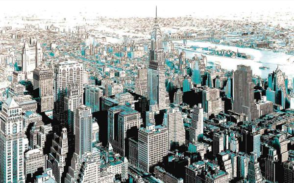 Vliestapete Fototapete Gotham City