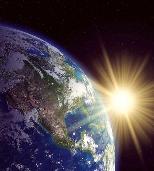 Vliestapete Weltraum Erde 225x250