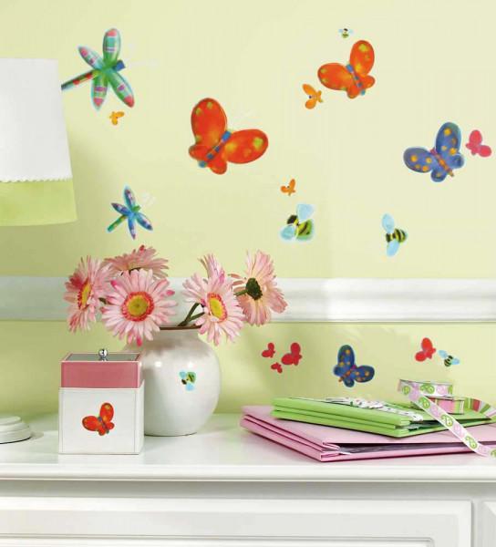 Wandsticker Schmetterlinge Libellen Mädchenzimmer