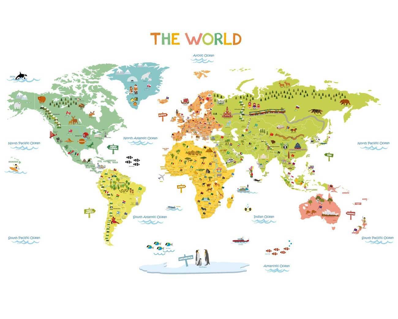 Weltkarte Klein