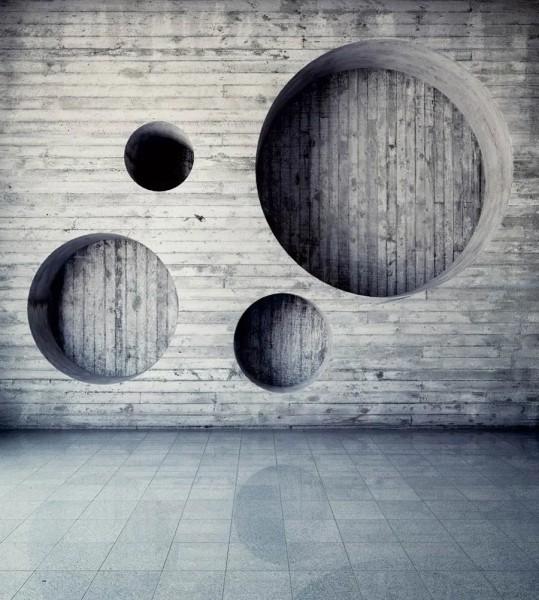 Vliestapete Holz Geometrie 225x250
