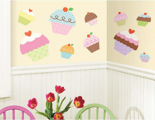 Wandsticker Cupcake Muffin Cafe
