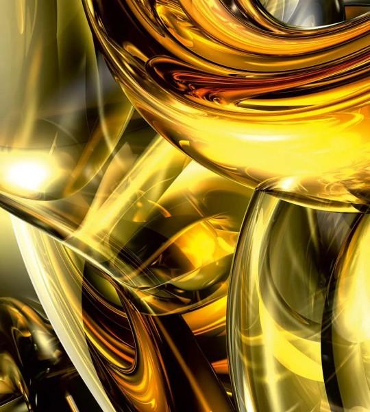 Vliestapete Goldener Draht 225x250
