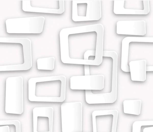 Vliestapete 3D-Optik Frames weiß